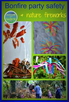 Bonfire Party Safety and Nature Fireworks - outdoor play for kids