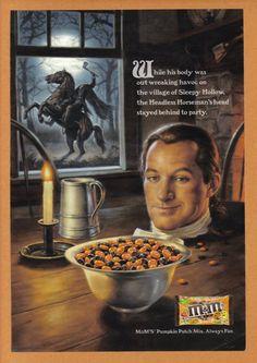 MMs Pumpkin Patch Mix Halloween Headless Horseman advertisement