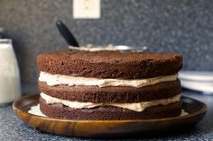 Chocolate cake with chocolate whipped cream!