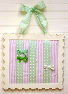 Adorable barrette holder for a little girl's room