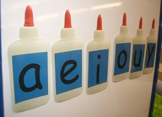 Vowels are the glue that holds words together.  Cute!