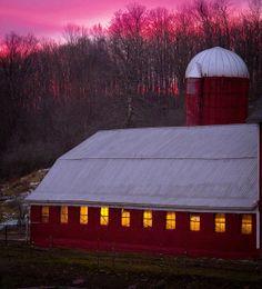 Barn At Evening Sunset...New York