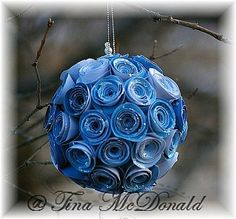 Rolled Flower Ornament tutorial *~ by Tina McDonald