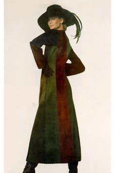 Lauren Hutton in Yves St. Laurent by Irving Penn, 1970.