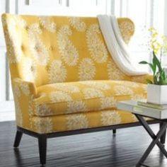 yellow settee