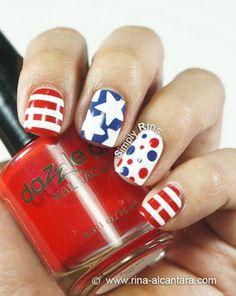 15 Patriotic 4th of July Nails | Divine Caroline