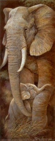 Mother Elephant with Baby