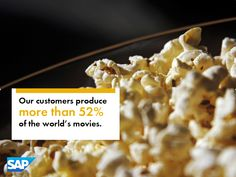 SAP Customers produce more than 52% of the World's movies.
