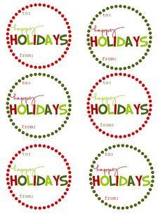 DIY holiday gift tags - love!  Click here - http://mommybydaycrafterbynight.blogspot.com/2011/11/free-printable-christmas-gift-tags.html