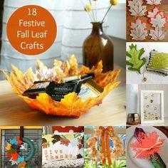 18 Fun and Festive Fall Leaf Crafts