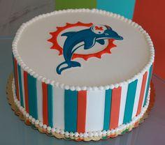 Miami Dolphins cake.