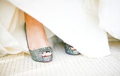 sparkling silver glitter shoes :)