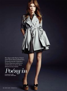 wish I had this trench today!  Marie Claire