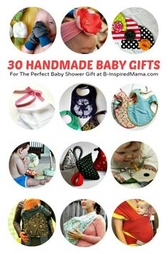 30 DIY Baby Gifts for a Baby Shower at B-Inspired Mama   #baby #diy #crafts #kbn #binspiredmama