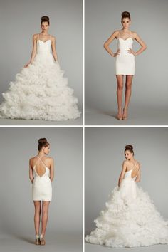 wedding dresses of 2013 Hayley Paige convertible wedding dress - I love the idea of a convertible dress. If I get married, this is me!