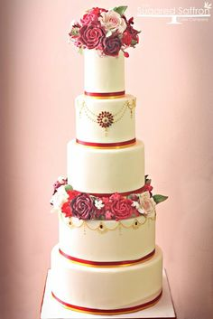 Asian inspired wedding cake - by SugaredSaffron @ CakesDecor.com - cake decorating website