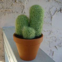 NEW Giant Fuzzy Crochet Cactus
