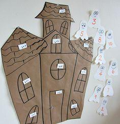 Halloween Math Activity For Kids haunt hous, activities for kids, haunted houses