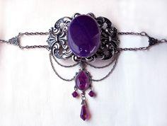 Purple Gothic Choker