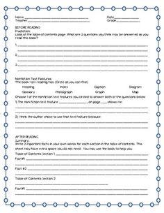 DRA 28 Non-Fiction Written Retell Practice Form