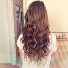 light brown curly hair ♡
