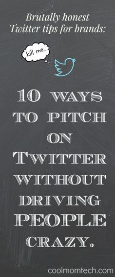 If you're in marketing/PR and want to pitch using #Twitter, follow these 10 extremely honest Twitter tips for brands that you may not have considered. #socialmedia