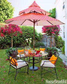 garden decorations, color backyard, yellow pillow