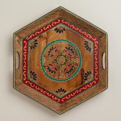 \WorldMarket.com: Paisley Patch Wood Serving Tray-- for mom