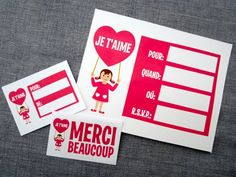 Free printable collection in english, spanish and french - Valentines