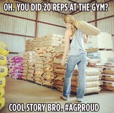 Story of me and my brother's life. The coaches still make my brother go lift weights at five each morning. Apparently doing this all day along with working on the farm  isn't enough.