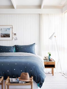Hunting For George bed linen. Photo by Eve Wilson, production by Kate Lee and Elisenda Russell, via @Matty Chuah Design Files