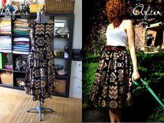 Dress to a skirt tutorial.