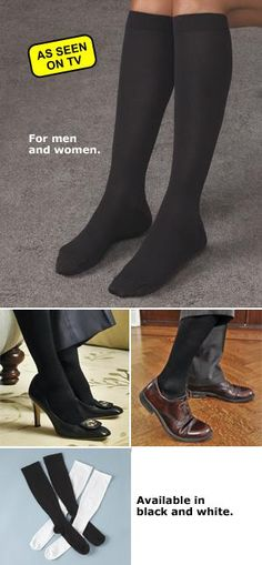 $8 Black Large/XL Miracle Socks - A Pair