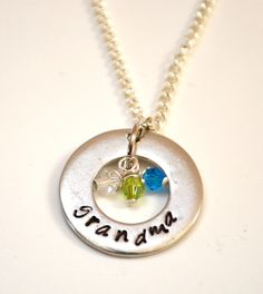 DIY Birthstone Family Necklace - One Artsy Mama