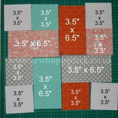 Good scrap quilt project. Use up random fabrics and just place together. Perfect for a charity quilt project too - easy. // Good for this beginner!