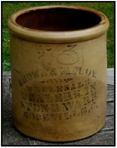 brown & mccoy salt glazed crock