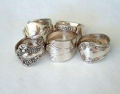 old silverware, fork ring, diy crafts, spoon rings, tutorial, sterling silver, silver spoons, diy rings, jewelri