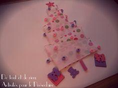 Ribbon Christmas tree. Super easy to do!