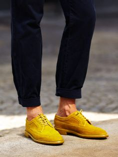 yellow mens shoes
