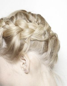 wink-smile-pout:  Backstage at Valentino Spring 2012 hairdo, valentino spring, backstag, braids, hair inspir, hairstyl, hair style, beauti, spring 2012
