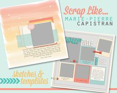 Quality DigiScrap Freebies: Templates freebie from My Letter-Sized Life