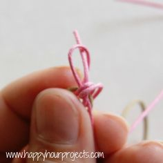 How to tie a sliding knot