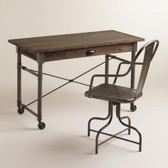 love this industrial desk! offic, celia collect, desks, hous, furnitur, apart, kid room, desk chairs, celia desk