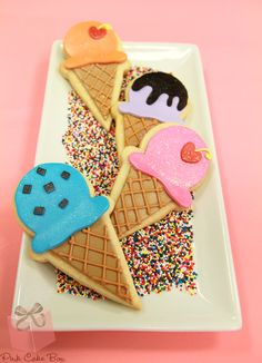 Ice Cream Cone Cookies | http://blog.pinkcakebox.com/ice-cream-cone-cookies-2012-01-18.htm