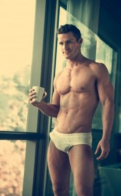 How do I like my coffee? I the hand of an almost naked man!!! Duh!!
