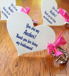 Bridesmaid's Gifts for a Nautical Wedding...Anchor Rings #wedding #bridesmaids #anchor