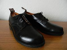 New to shop today: Yuketen black leather 'Ribbon Oxfords' (made in Canada).