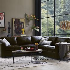 Unstuffy Henry Leather Sectional