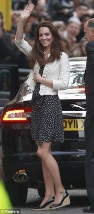 duchess of cambridge, princess, polka dots, dress, outfit