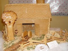 gingerbreadhous, decorating ideas, hous gingerbread, gingerbread barn, fences